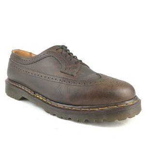 Dr Martens 3989 Brogue Brown Wingtip Oxford Shoe